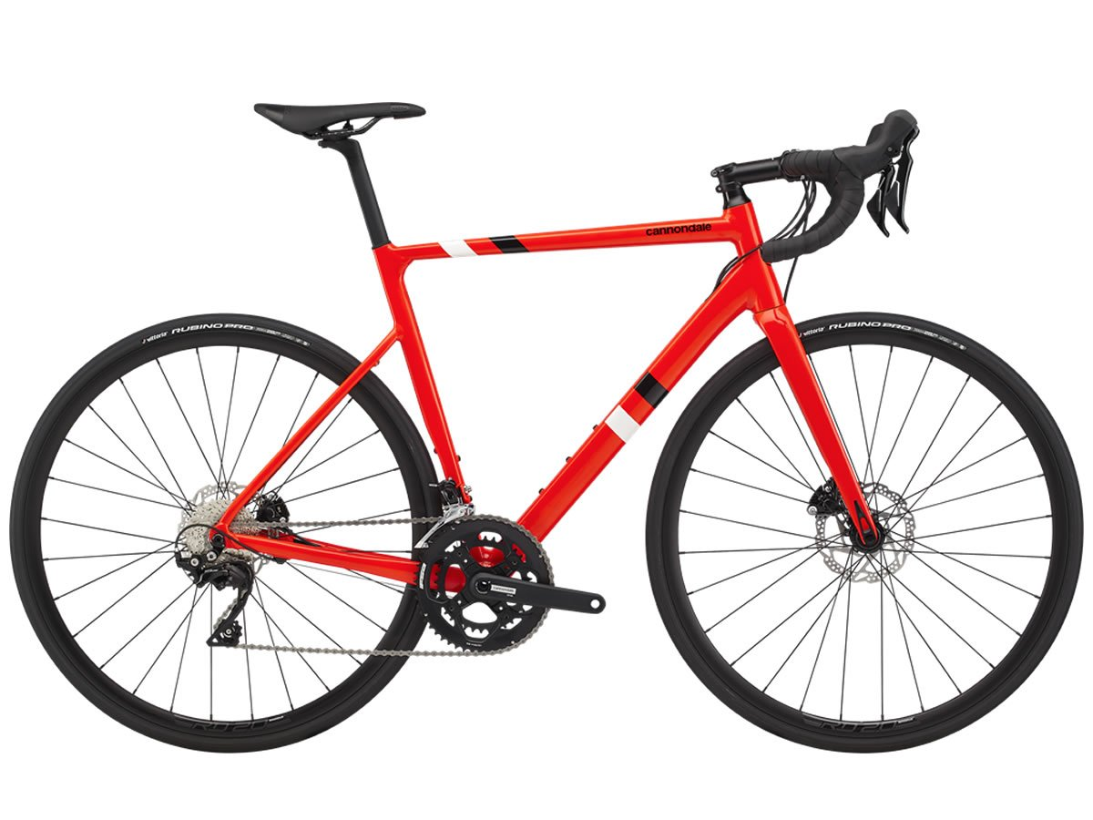 Vélo course CANNONDALE CAAD13 Disc 105 Acid Red 2020