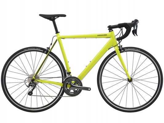 Vélo course CANNONDALE CAAD Optimo Tiagra Nuclear Yellow 2020